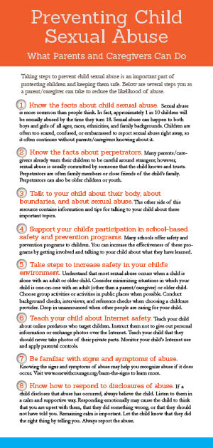 Preventing Child Sexual Abuse brochure